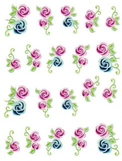 One Stroke Sticker Blumen Flower Nail Art 0332 / BLE524
