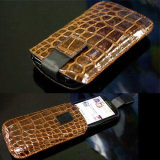 Motorola DEFY MB525 Krokodil Optik Tasche Handtasche Ledertasche