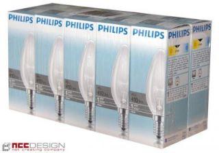 10x Philips Gluehlampe Gluehbirne Kerze 40W E14 klar 40 Watt
