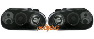 Scheinwerfer VW Golf 4 LED Angel Eyes Xenon Optik schwarz