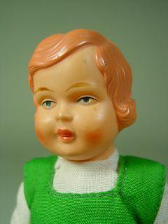 P515/ alte Minerva Puppenstuben Celluloid Puppe um 1930 ca. 15 cm