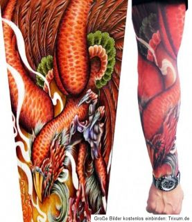 Tattooärmel Tattoosleeve Skin Sleeve Strümpfe Tattoo 11 Motive zum
