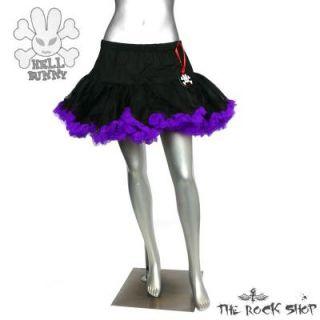 Hell Bunny kurzer Petticoat   Schwarz Lila