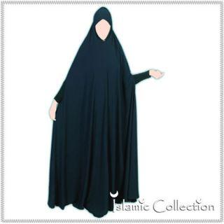 Khimar Ganzkoerper Dunkelblau Jilbab Abaya Hijab Islamische Kleidung