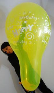 24 Qualatex Luftballons HAPPY BIRTHDAY/GEBURT STAG