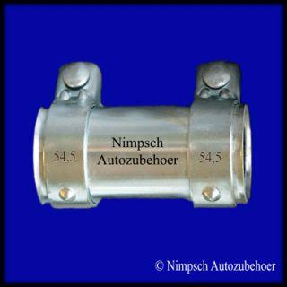Auspuff Rohrverbinder 50 x 125 mm Audi A3 A4 A6 Neu