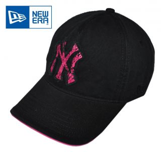 New Era   NY Yankees Retro Black + Pink Baseball Cap / Hat (AC532