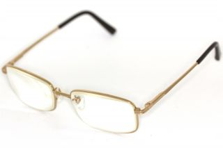 HUGOCONTI H8610 Pure Titanium TITAN Brille Gold glasses lunettes
