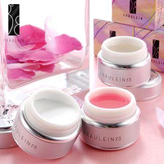 Fräulein3°8 Nail Art UV Builder Gel x3/Clear White Pink