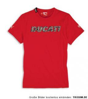 DUCATI Puma Logo AW ´11 kurzarm T Shirt rot NEU 2012