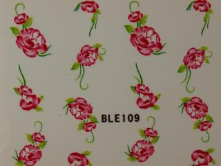 Nail Art Sticker Tattoo One Stroke BLE 109