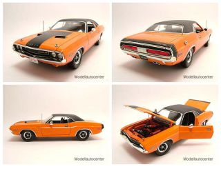 Dodge Challenger R/ 1970 orange, Fas & Furious, Modellauo 118