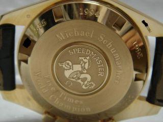 Omega Speedmaster Broad Arrow Schumacher Oro Gold