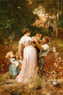 My Lady Is A Widow And Childless Premium Giclee Print by Marcus Stone