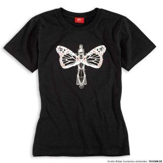 DUCATI BUTTERFLY Damen T Shirt Top kurzarm LADY schwarz NEU 2012