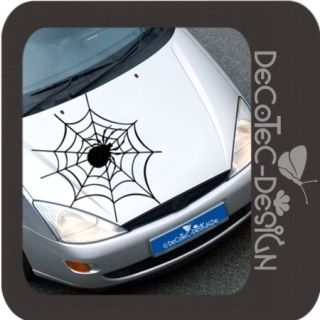 A557 Spinne Spinnennetz Auto Aufkleber Spider Sticker