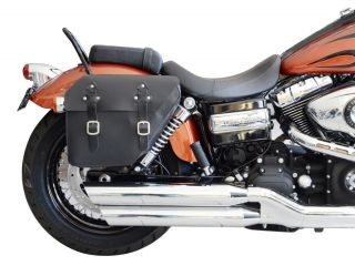 Harley Davidson Saddlebag Street Bob Dyna (1996 2012) black leather HD