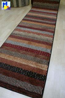 modischer Teppich Läufer *Infi Zagros rot multi* 80 cm breit gewebt