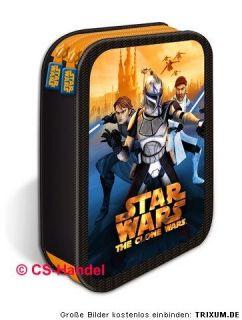 Star Wars Clone Wars doppel Federtasche Federmappe Etui