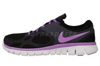 Nike Wmns Flex 2012 RN Black Violet Purple Womens Running Shoes 512108