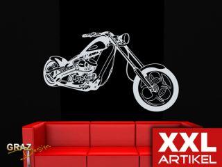 Wandtattoo Wandaufkleber XXL Fahrzeuge Motorrad Custom Bike
