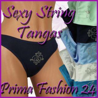 Damen String Tanga Strass Steine Unterhose Slip M,L,XL,34 36 38 40