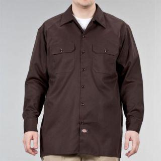 Dickies   574 Long Sleeve   Work Shirt   Neu & OVP   Braun