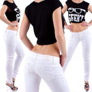 DAMEN Hose HÜFTJEANS RÖHRENJEANS PASTELL Skinny Jeans STRETCH