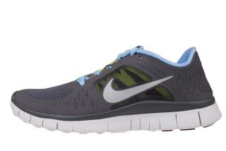 Nike Wmns Free Run 3 Grey Silver 2012 Womens Barefoot Running Shoes