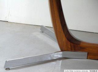 großer 60er jahre COUCHTISCH palisander chrom mid century modern