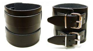 Lederarmband 2 Schnalle / B Ware / Gothic Biker Larp LEDER Armband