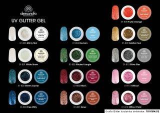 alessandro Modellage Glitter Nail Art Gel Miss T 806 ** Tolles Rot