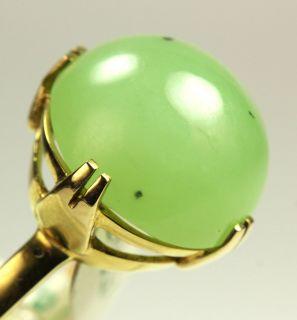 Goldring echt Gold 585 Ring mit Jade Rw ca 55 aus Juweliersnachlaß 7