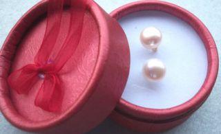 Luxus Ohrringe Ohrstecker 585 echt Gold 14k mit echten Perlen