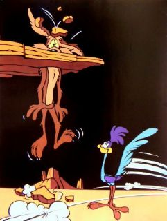 LOONEY TUNES POSTER ROAD RUNNER COYOTE BUGS BUNNY NEU!!