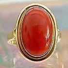 Korallenring Goldring 585er Gold 585 Ring Koralle