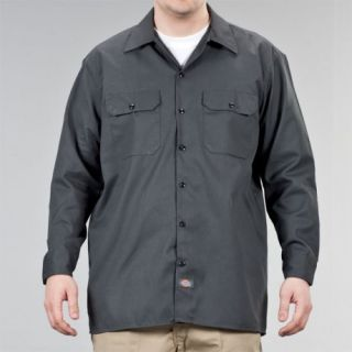 Dickies   574 Long Sleeve   Work Shirt   Neu & OVP   Charcoal