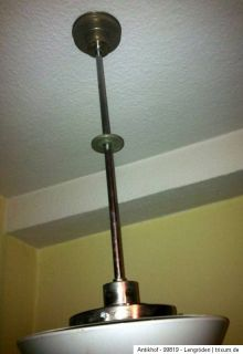 Orig. Art Deco Design Lampe Wagenfeld Opalglas Kegel Kandem Bauhaus