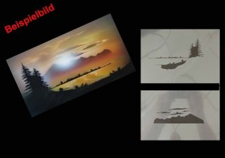 Step by Step Airbrush Schablone 578 Landschaft 1