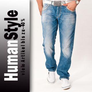 Neu Herren Jeans Cipo Baxx Blau Denim C 595 Hose Bootcut Top Seller