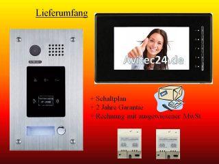 VIDEO TÜRSPRECHANLAGE DT596ID + DT6910 RFID ZUGANG UNTERPUTZ ID CARD