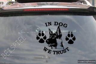 Schäferhund  Aufkleber   Autoaufkleber  Neu