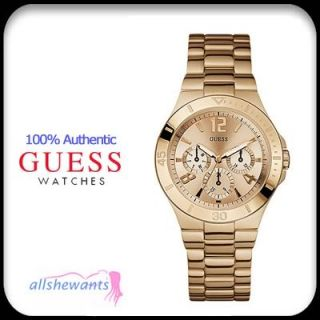 NEW GUESS WATCH for WOMEN * Active Shine * Rose Gold Tone * U13624L1