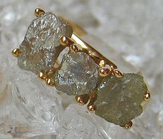 Goldringe Dimantringe 14kt 585 Gold Ring Roh Diamant Schmuck mit