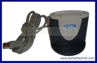 OK Omnikey Cardman 3121 USB Smartcard Reader + Fuss