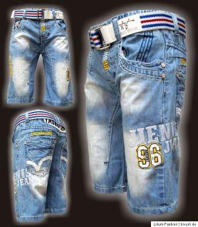 Super Coole Bermuda Jeans Junge JNS LX5003 Gr. 4 12 neu 2012