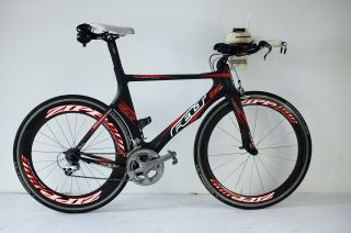 Carbon Triathlon Time Trial TT Bike + Zipp 606   2008  rh 56cm