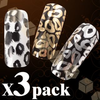 Fraulein38 3 sheet Mix Design Full Nail Water decals Nail Art Stickers