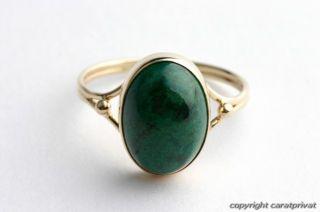 Jadering in 14 kt. 585 Gold Ring mit Jade grüner Stein