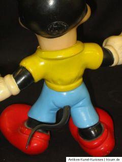 Micky Mouse Walt Disney Figur wohl 60er bzw. 70er 25,5 cm Ledraplastik